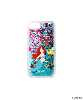 【HIGH CHEEKS】Blue Glitter Arielグリッター iPhone用ケース