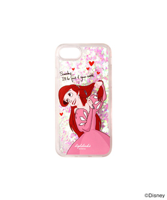 「HIGH CHEEKS」Ariel Heart グリッターiPhone用ケース