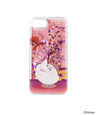 【HIGH CHEEKS】Mrs. Potts and Chip グリッター iPhone用ケース