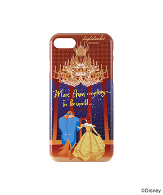 【HIGH CHEEKS】 Beauty and the Beast Glitter iPhone用ケース