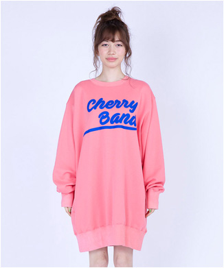 【little sunny bite】Cherry band big sweater