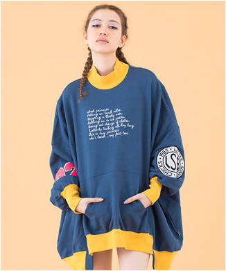 【little sunny bite】univercity colorful sweater