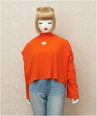 【LAZY OAF】orange heart all