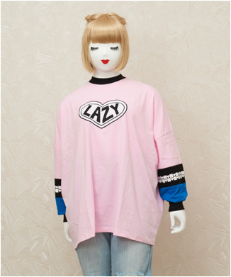 【LAZY OAF】pink panel long