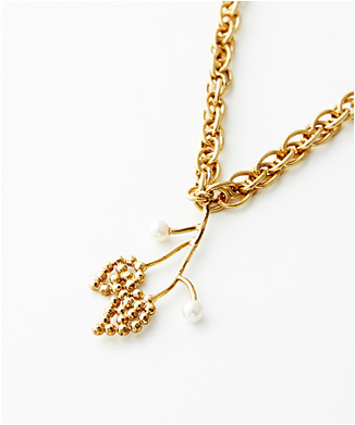 【ADER.bijoux】リーフロングネックレス