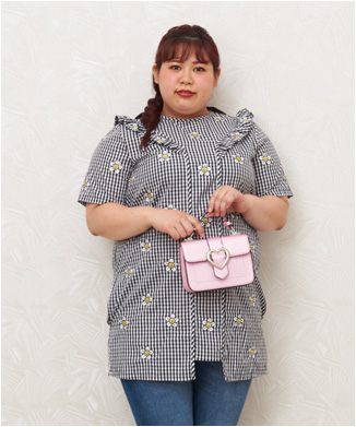 【LAZY OAF】LADY HEART BUCKLE BAG