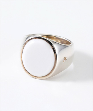 【TOMWOOD】THE OVAL WHITE AGATE