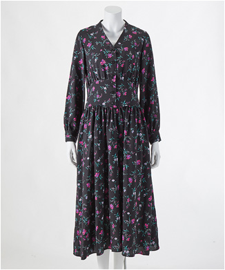 【THE IRON】FLORAL-PRINT MAXI OP