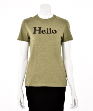 【MADISON BLUE】HELLO CREW NECK TEE
