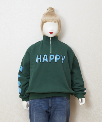【little sunny bite】HAPPY LOVE zip sweat top
