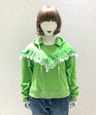 【little sunny bite】Frilled sweat hoodie