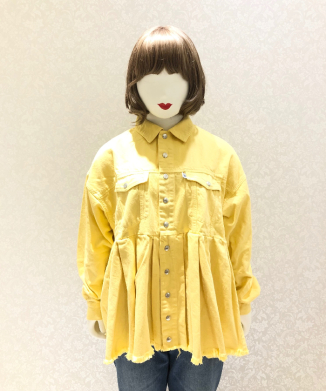 【little sunny bite】Original colored denim washed jacket