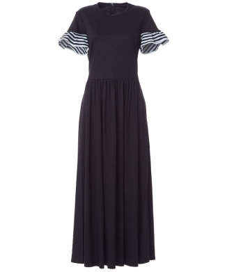 【先行販売】【BORDERS at BALCONY】RUFFLED MAXI DRESS