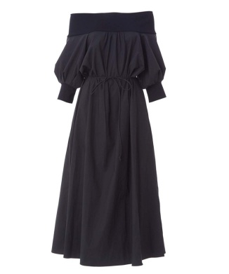 【先行販売】【BORDERS at BALCONY】OFF-SHOULDER DRESS