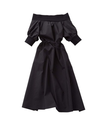 【先行販売】【BORDERS at BALCONY】OFF-SHOLDER DRESS KIDS