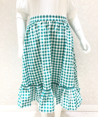 【Collectif】KATHERINE GINGHAM SWING SKIRT