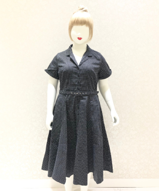 【Collectif】CATERINA MINI POLKA DOT SWING DRESS