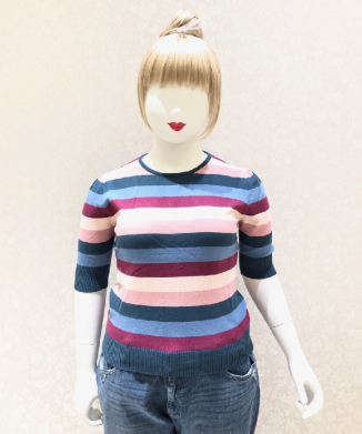 【Collectif】CHRISSIE PARADISE STRIPE KNITTED TOP