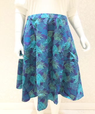 【Collectif】MATTIE COOL PALM SWING SKIRT