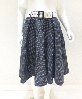 【Collectif】CLAIR MINI POLKA DOT SWING SKIRT