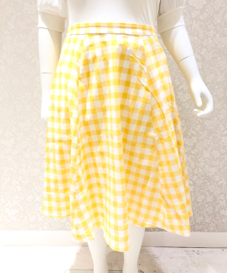 【Collectif】MATILDE GINGHAM SWING SKIRT