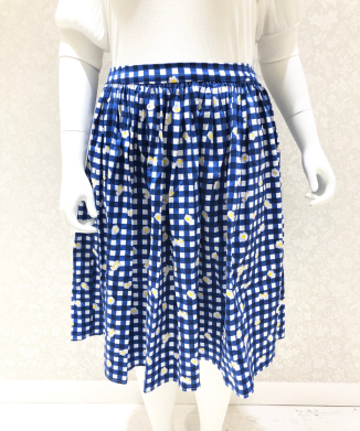 【Collectif】JASMINE GINGHAM DAISY SWING SKIRT