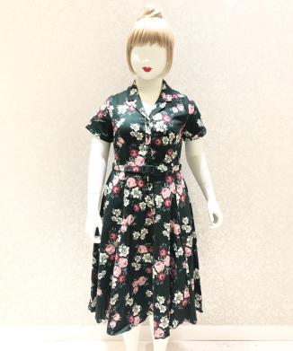 【Collectif】CATERINA VINTAGE BLOOM SWING DRESS