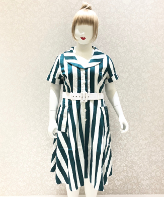 【Collectif】BRETTE GLADE STRIPE SWING DRESS
