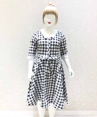【Collectif】PATSY VINTAGE GINGHAM SWING DRESS