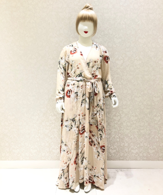 【Unique Vintage】Floral Farrah Maxi Dress