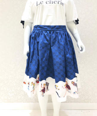 【Unique Vintage】Barbie Skirt