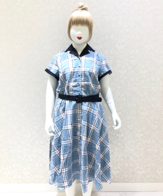 【Unique Vintage】Plaid Alexis Swing Dress