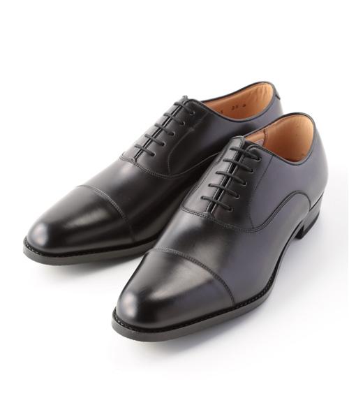 紳士靴 内羽根ストレートチップ 114S / ブラック