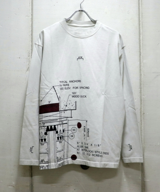 BLUEPRINT LONG SLEEVE T-SHIRT MTS004WHL